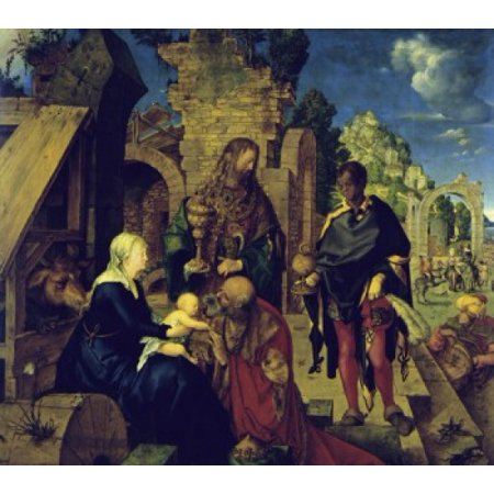 - The Adoration of the Magi  1504 Albrecht Durer Oil on wood panel  Galleria degli Uffizi Florence Italy Poster Print