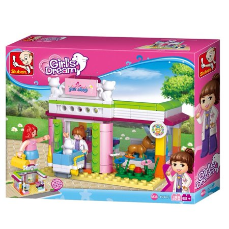 Sluban Pink Dream Princess Series Building Kit Educational Blocks (195 Piece) – Pet Store