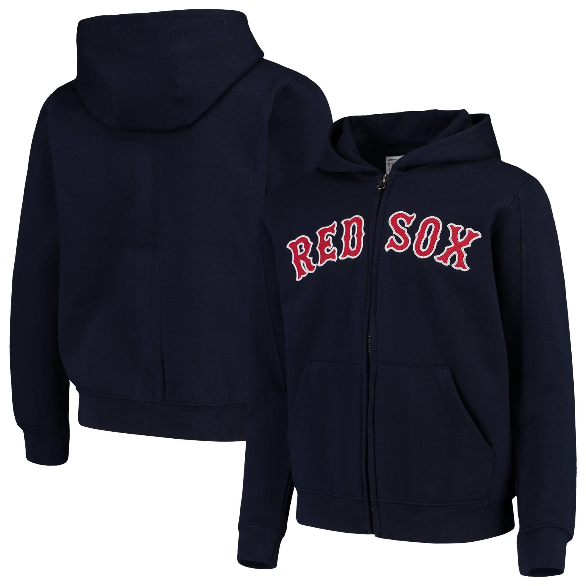 Boston Red Sox Youth Team Color Wordmark Full-Zip Hoodie - Navy
