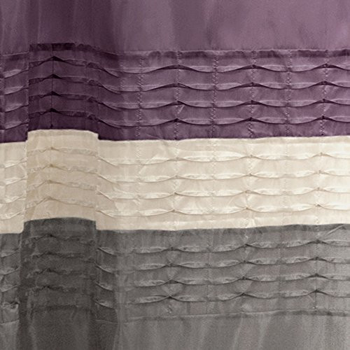 Lush Decor Mia Shower Curtain 72 by 72-Inch Purple/Gray