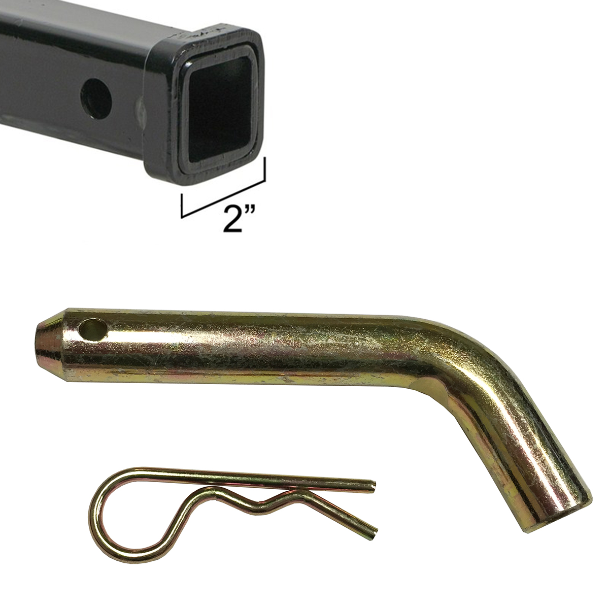 """Apontus Ball Mount Hitch Pin 5 8"""" for 2"""" Receiver Luggage Carrier Basket Trailer RV SUV by Apontus"""