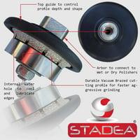 "Stadea 3/16"" Diamond Hand Profiler Profile Wheel Demi - Half Bullnose B5 Grinding Bit For Granite Stone Concrete Countertop Edges"