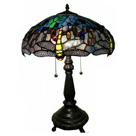 Dragonfly Table Lamp in Blue ()