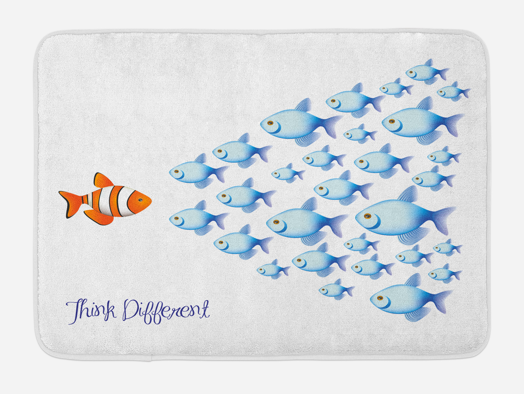 Kids Bath Mat, Quote with Outsider Fish against All the Others Motivational Inspirational... by 3decor llc