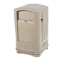 Rubbermaid Commercial Products Plaza Receptacle 50 Gallon Swing Top Trash Can by Rubbermaid Commercial
