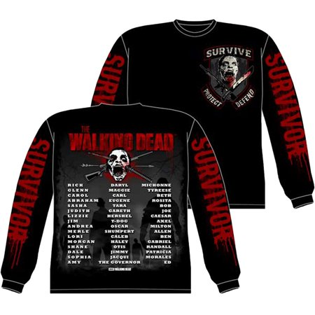 The Walking Dead Survivor Us And The Dead Long Sleeve Shirt