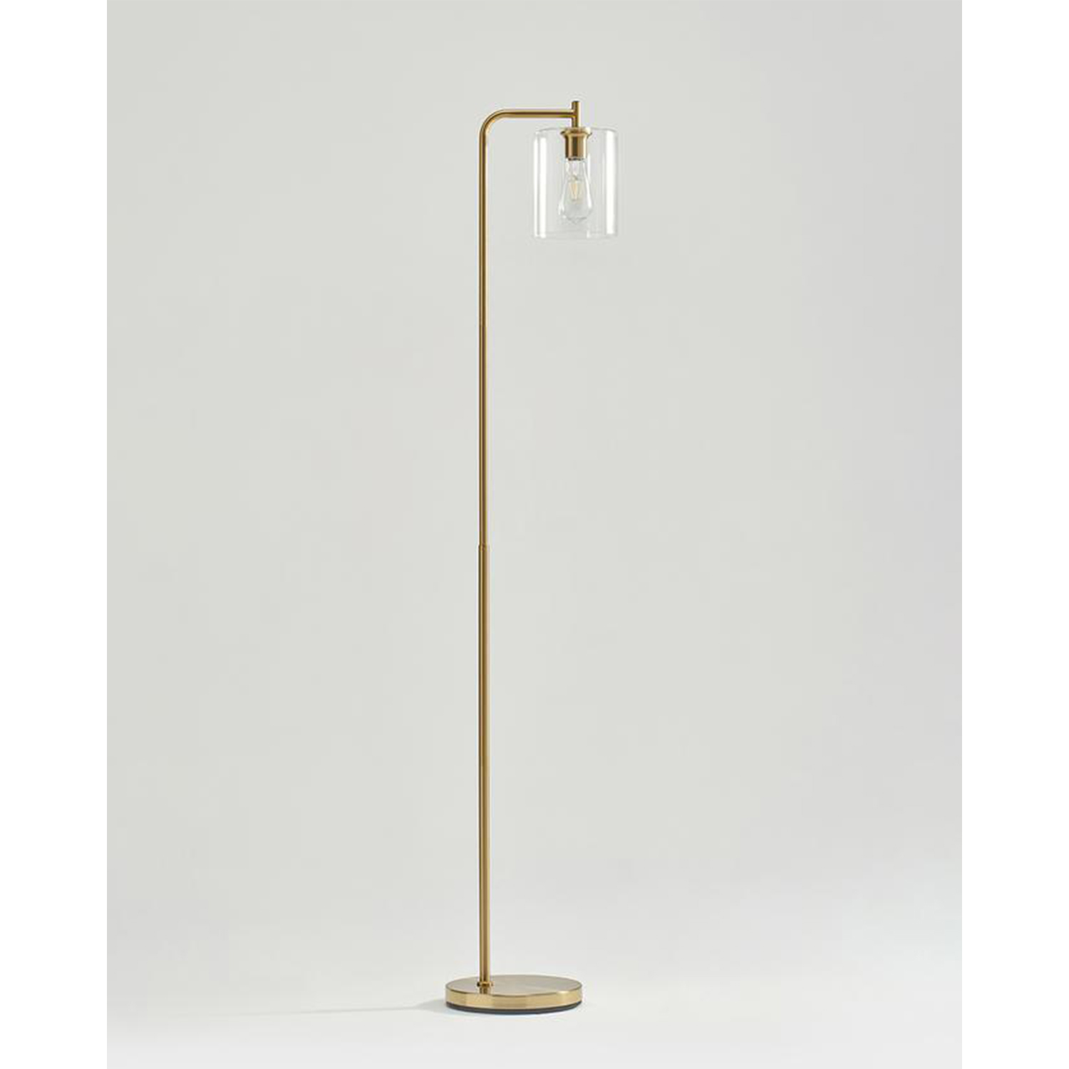 Brightech Elizabeth Industrial Floor Lamp With Glass Shade And Edison Bulb Gold Walmart Com Walmart Com