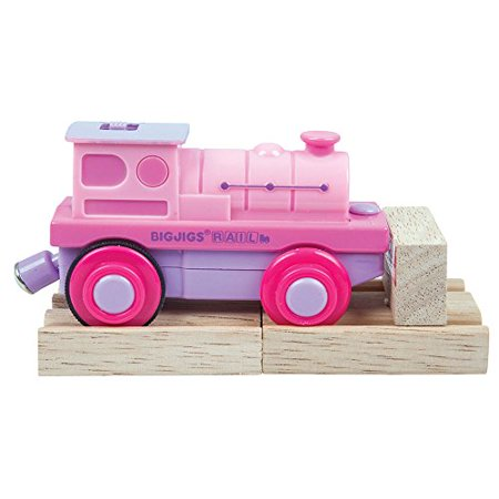 Bigjigs Toys  Pink Battery Operated Steam Engine by Bigjigs