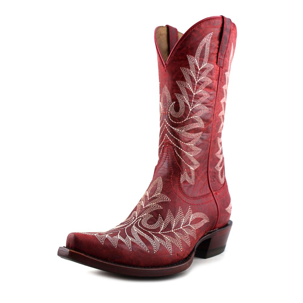 Ariat Brooklyn Pointed Toe Leather Western Boot by Ariat