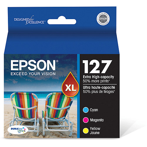 Epson 127 DuraBrite Ultra-Extra High-Capacity Color Multi-Pack