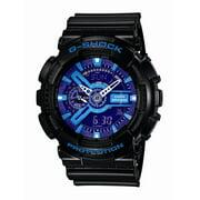 Casio Men's XL Series G-Shock Quartz 200M WR Shock Resistant Resin Color: Black With Blue Accents (Model GA110HC-1A)