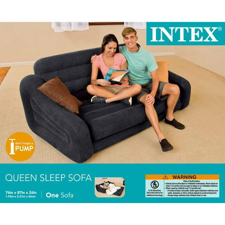 Intex Queen Inflatable Pull Out Sofa Bed Best Air Beds