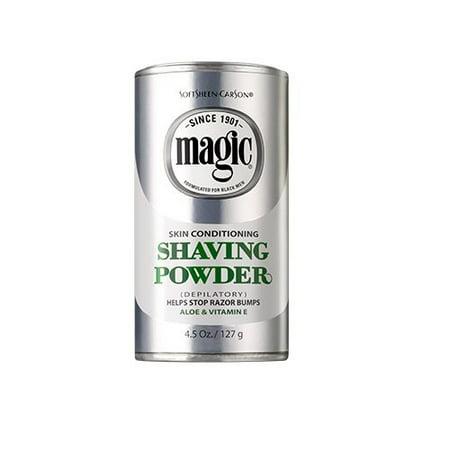 SoftSheen-Carson Magic Skin Conditioning Shaving Powder, 4.5 oz, Razorless shave helps stop razor bumps By SoftSheenCarson