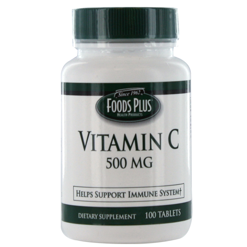 Vitamin C-500 Mg Tablets By Food Plus, Immune Support - 100 Ea