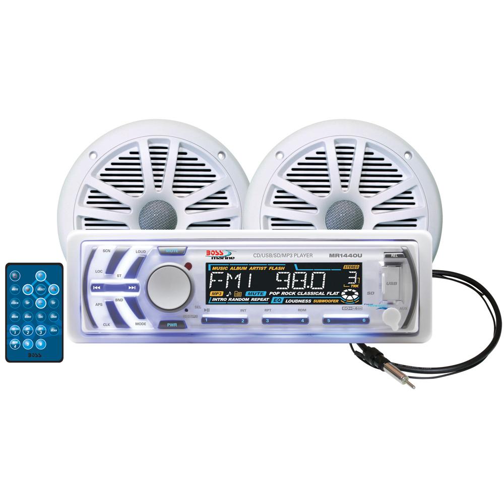 BOSS AUDIO MCK1440W.6 PACKAGE W/ MR1440U 2 MR6W SPEAKERS