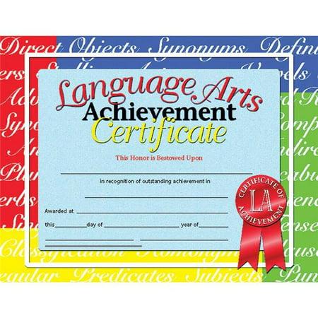 Flipside H-VA685-3 Hayes Certificates Language Arts Inkjet Laser, 8.5 x 11 in. - 30 Per Pack - Pack of 3 Hayes Inkjet Paper