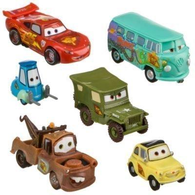 - Disney Pixar Cars - Lightning McQueen Pit Crew - 6 Figure Play Set - In Display Box
