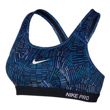 - Nike Pro Classic Padded Sports Bra Xs Dri-fit Tidal Multi Blue X SMALL MULTI BLUE