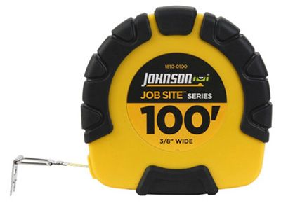 Johnson Level & Tool 1810-0100 Job Site Closed-Case Tape Measure, 3:1 Gear Drive, Steel... by JOHNSON LEVEL & TOOL
