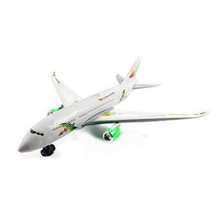 Vt Big Size Boeing 747 Battery Operated Bump   Go Toy Airplane W  Flashing Lights  Sounds    Music