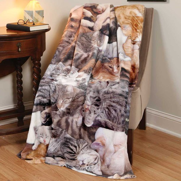 Recliner Cover Cat Throw Photo Realistic Cat Lovers Fleece Throw Blanket Walmart Com Walmart Com