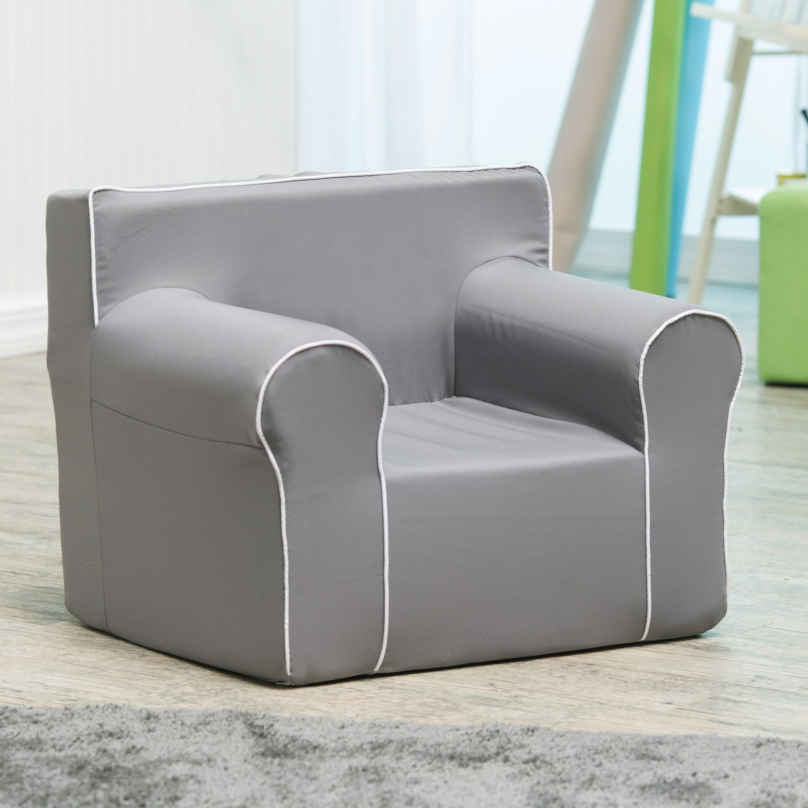 Here and There Kids Chair - Gray Canvas