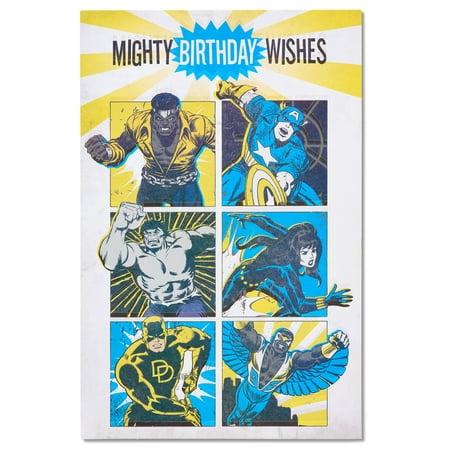 American Greetings Marvel Superheroes Birthday Card Walmart