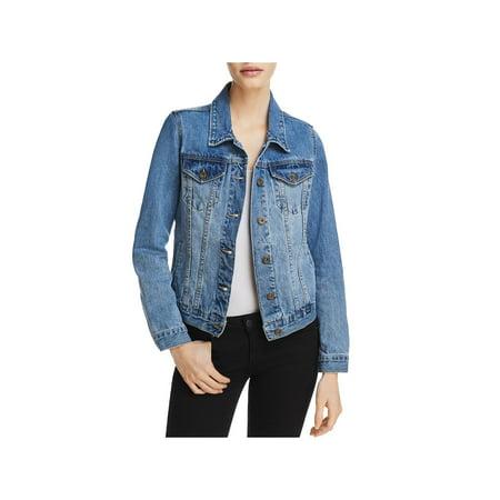 Sunset & Spring Womens Fall Medium Wash Denim Jacket ()