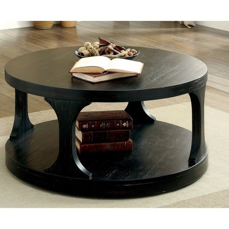 Furniture of America Tatem Transitional Style Round Coffee Table ()