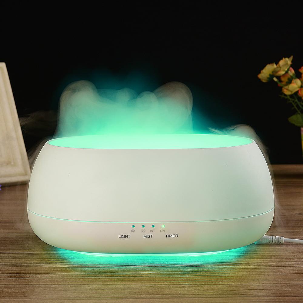 DN - 817 500ml Air Humidifier Ocean Mist Wood Grain Aroma Diffuser Night Light
