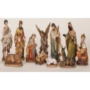 11-Piece Inspirational Gifts Religious Table Top Christmas Nativity Scene Set, 11""