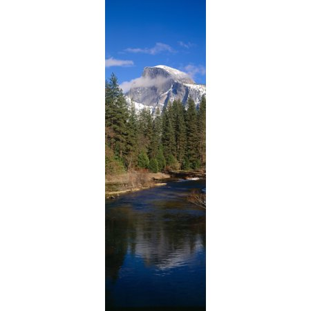 Merced River and Half Dome Yosemite California Canvas Art - Panoramic Images (27 x 9) (Geschäfte In Merced)