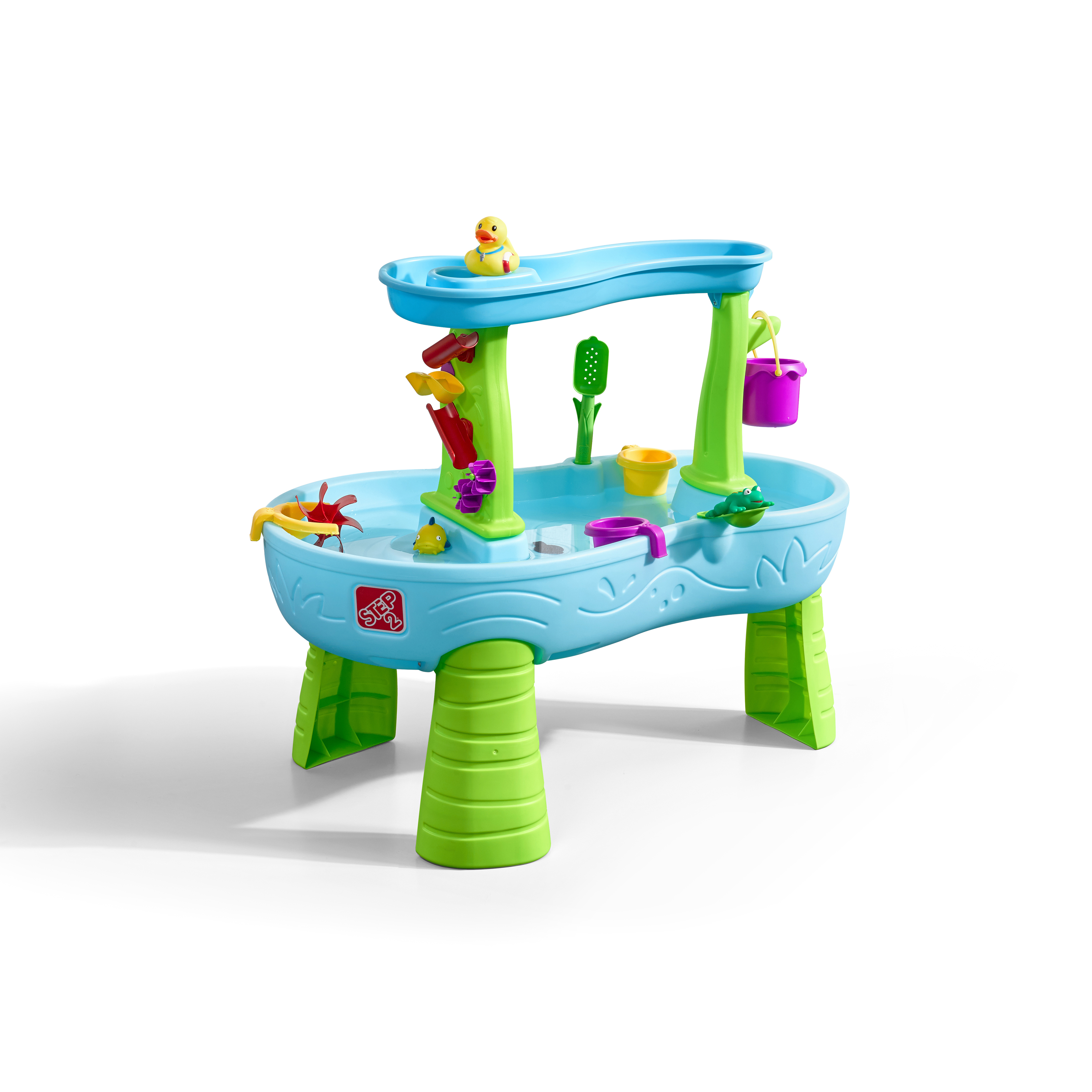 Step2 Rain Showers Splash Pond Water Table Kids Playset with 13 Piece Accessory Set