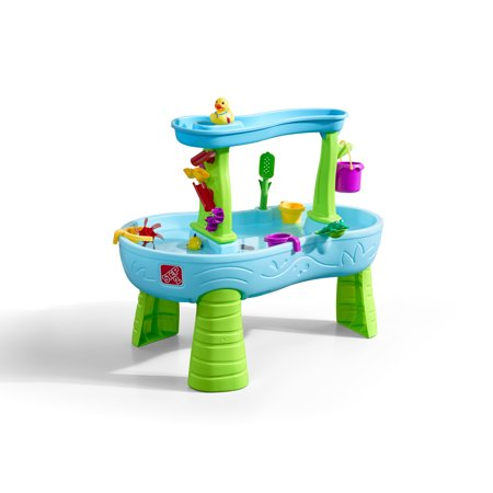 Step2 Rain Showers Splash Pond Water Table Kids Playset with 13 piece water toy accessory set