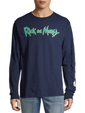 Rick and Morty Logo Men's and Big Men's Graphic T-shirt