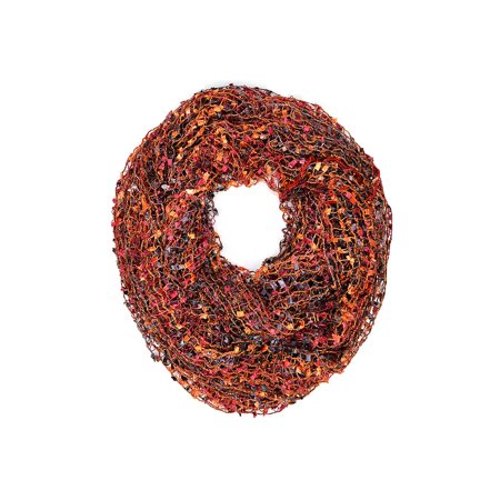 Bronze Wound Extra Light - Crochet Confetti Infinity Loop Scarf (Bronze)