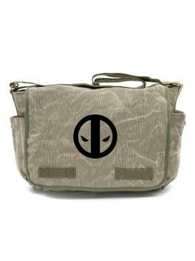 a8a73f7447b3 Product Image Deadpool Logo Army Heavyweight Canvas Messenger Shoulder Bag