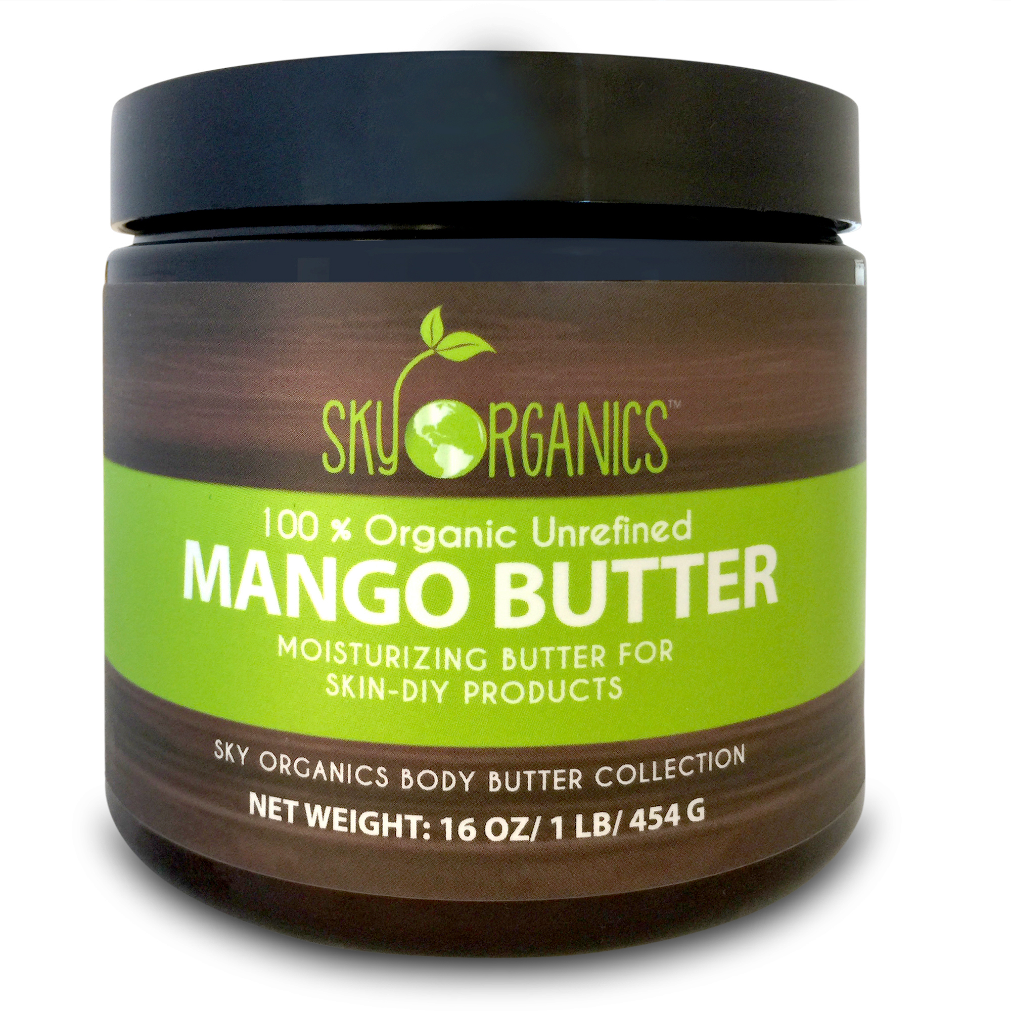Raw Mango Butter by Sky Organics 16oz-100% Pure, Unrefined, Organic Mango Butter