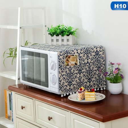 KABOER Microwave Cover Microwave Oven Hood Oil Dust Cover With Storage Bag Kitchen Accessories Supplies Home Decoration Kitchen Decorating Accessories