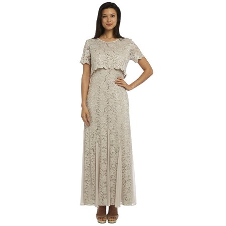 Rm Richards Long Mother Of The Bride Dress Plus Size Champagne