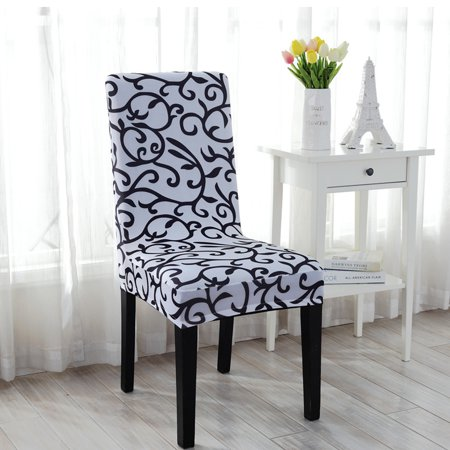 Stretchy Dining Chair Cover Short Chair Covers Washable ...
