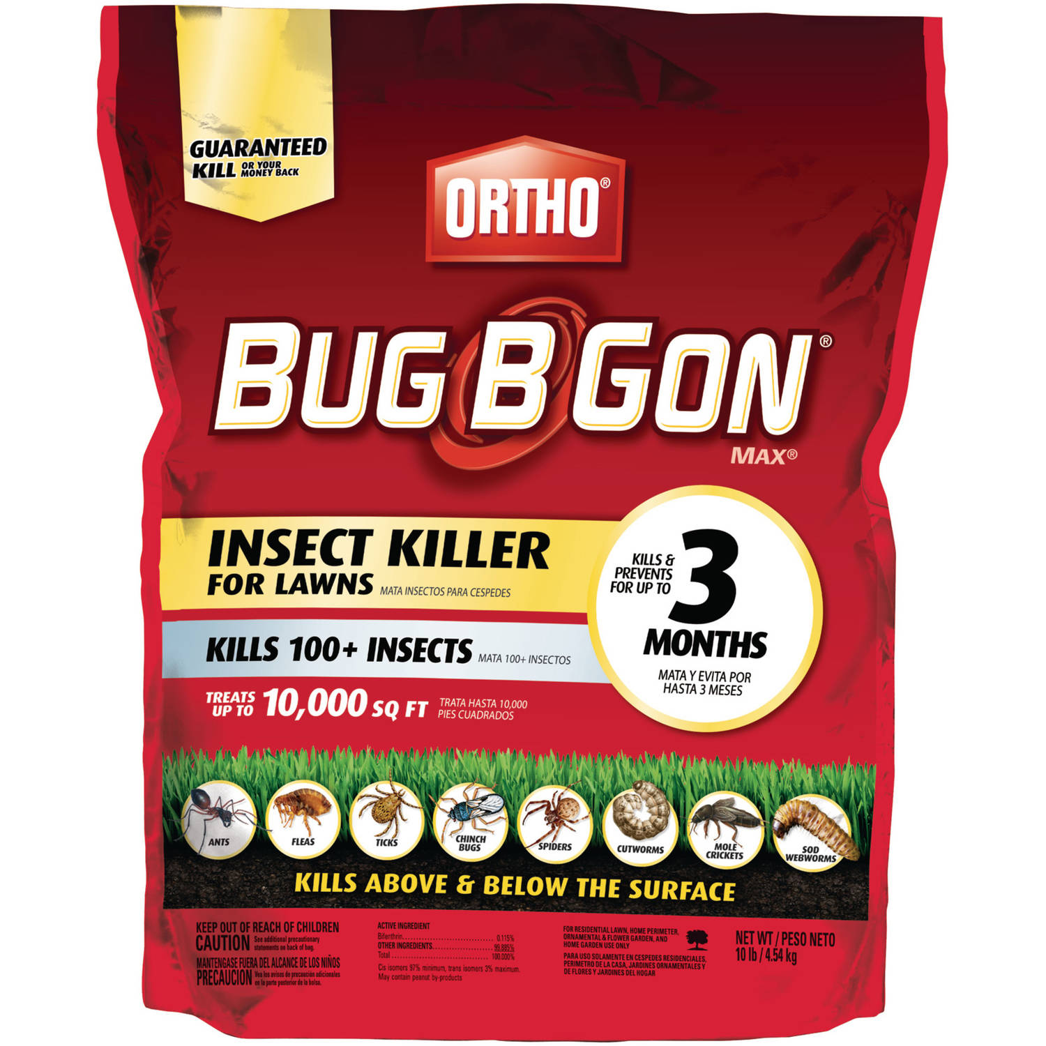 Ortho Bug B Gon MAX Insect Killer for Lawns Granules, 10 lbs