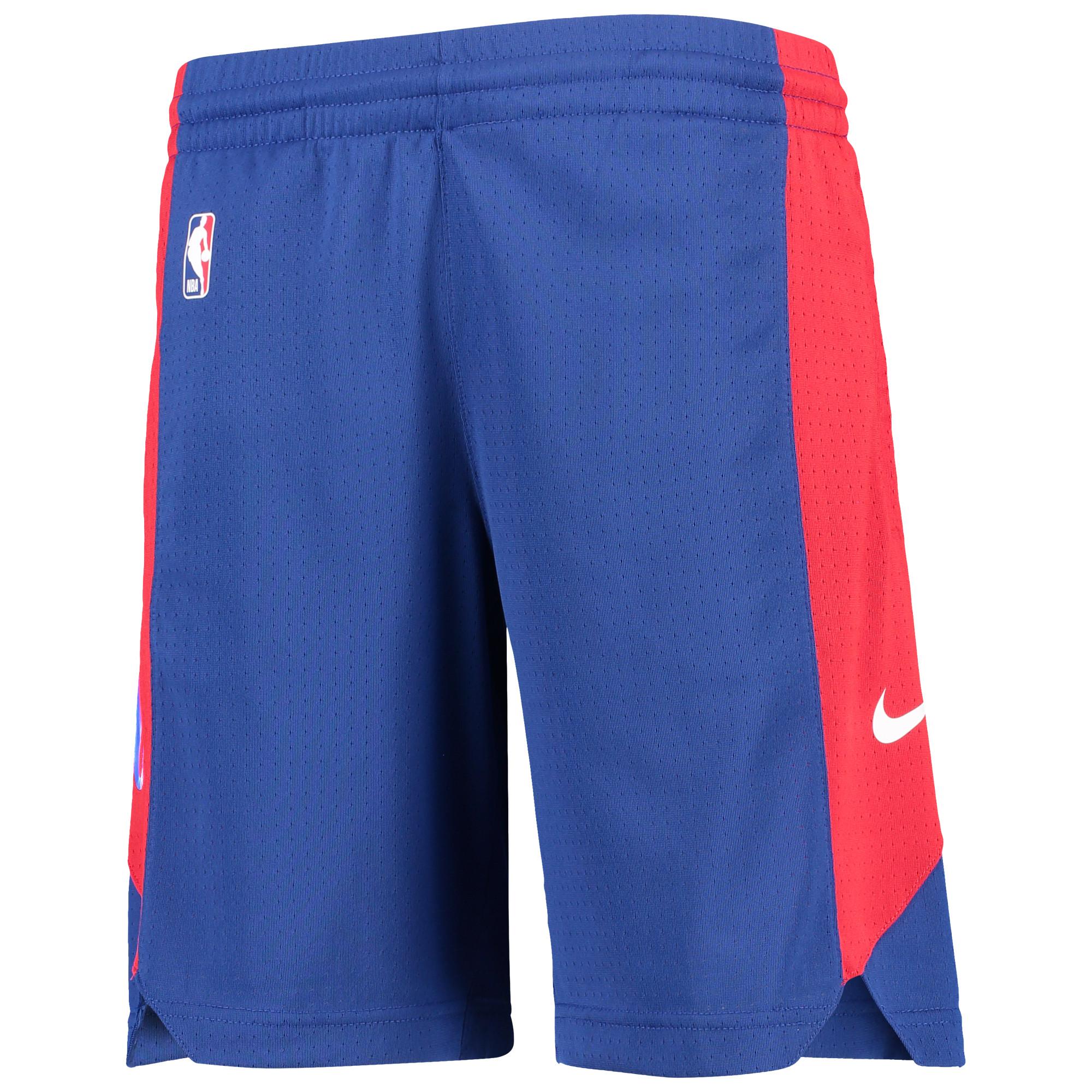 Philadelphia 76ers Nike Youth Performance Practice Shorts - Royal/Red