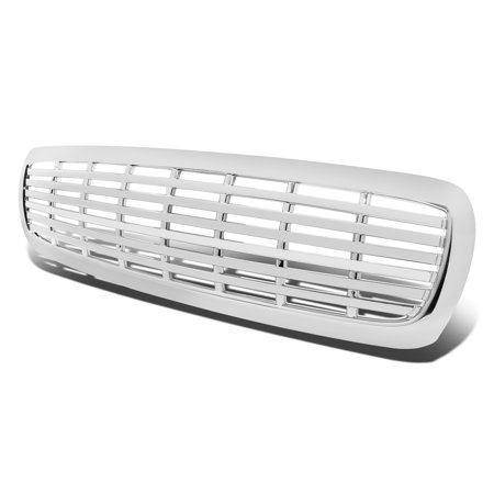 For 1997 to 2004 Dodge Dakota (2nd Gen) / Durango (1st Gen) ABS Plastic Front Grille (Chrome) 98 99 00 01 02 03