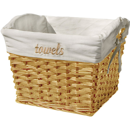 Neu Home Tapered Willow Baskets with Embroidered Liner
