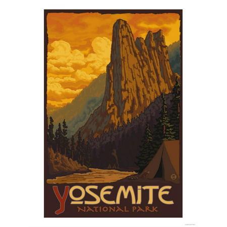 Sentinel, Yosemite National Park, California Print Wall Art By Lantern
