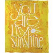 IDG You are my Sunshine Coral Fleece Throw