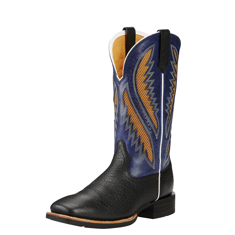 "Ariat 10019986 Quickdraw Venttek Buckboard Black 13"" Pull On Cowboy Boot by"