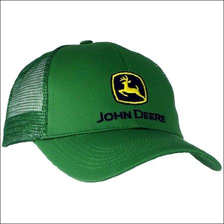 efca1f1002171c JOHN DEERE - JOHN DEERE EMBROIDERED LOGO MENS BASEBALL CAP W  MESH BACK  GREEN - Walmart.com