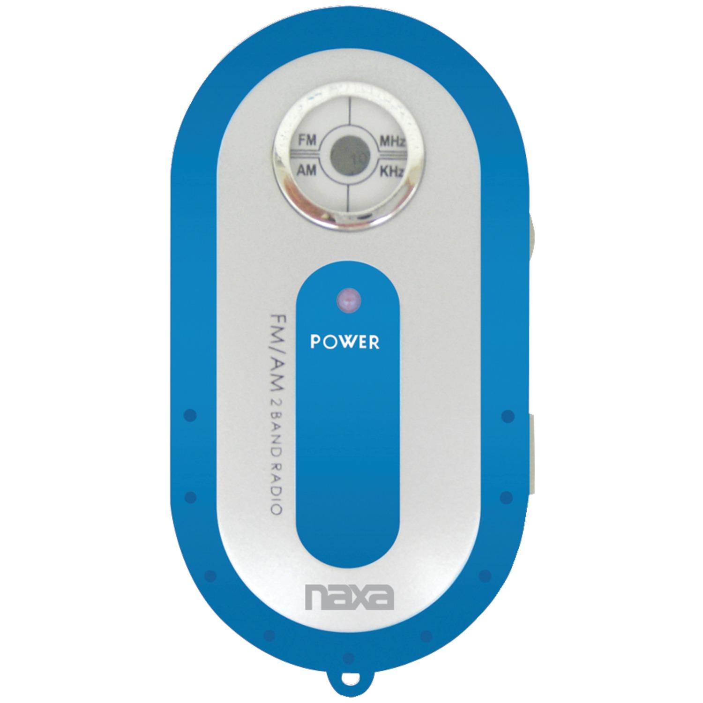 Naxa NR720BL AM/FM Mini Pocket Radio (Blue)
